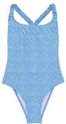 Fisch Oubli Abstract-print Swimsuit - Blue Print