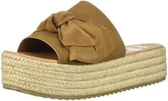 Coolway Women's Winky Espadrille Wedge Sandal Leather tan 38 Medium EU (7-7.5 US)