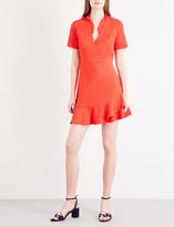 Sandro Frilled woven dress