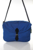Herve Chapelier Cobalt Blue Black Canvas Crossbody Messenger Bag