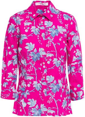 Carolina Herrera + Rose Cumming Printed Stretch-cotton Poplin Shirt