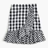 J.Crew Petite ruffle mini skirt in gingham