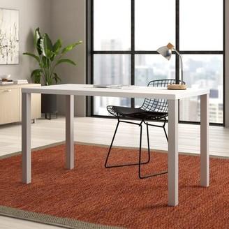 "Steelcase Currency Desk Finish: True Performance Laminate - Arctic White, Legs: Platinum Metallic, Size: 27.38"" H x 60"" W x 30"" D"