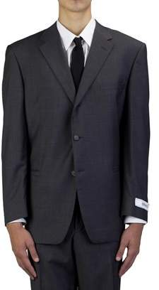 Versace Men's Wool Three-button Suit Blue.