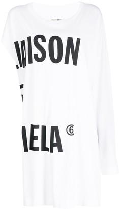 MM6 MAISON MARGIELA oversized asymmetric T-shirt
