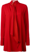 Sonia Rykiel tie-neck tunic dress - women - Polyester/Triacetate - 36