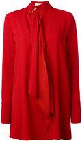 Sonia Rykiel tie-neck tunic dress - women - Polyester/Triacetate - 38
