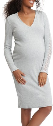 Stowaway Collection Maternity Sweatshirt Dress