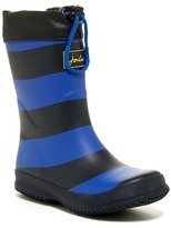 Joules Slate Blue Stripe Fleece Lined Welly Rainboot (Toddler, Little Kid, & Big Kid)