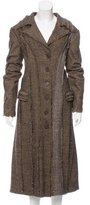 Philosophy di Alberta Ferretti Tweed Wool-Blend Coat