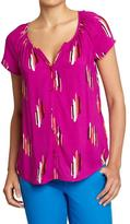 Old Navy Women's Ruched Button-Front Tops