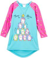 Komar Kids Pink & Blue Penguin Nightgown - Girls