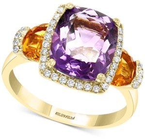 Effy Multi-Gemstone (4-1/5 ct. t.w.) & Diamond (1/5 ct. t.w.) Ring in 14k Gold