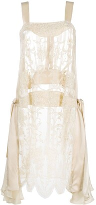 Antonio Marras Bead-Embellished Silk Dress