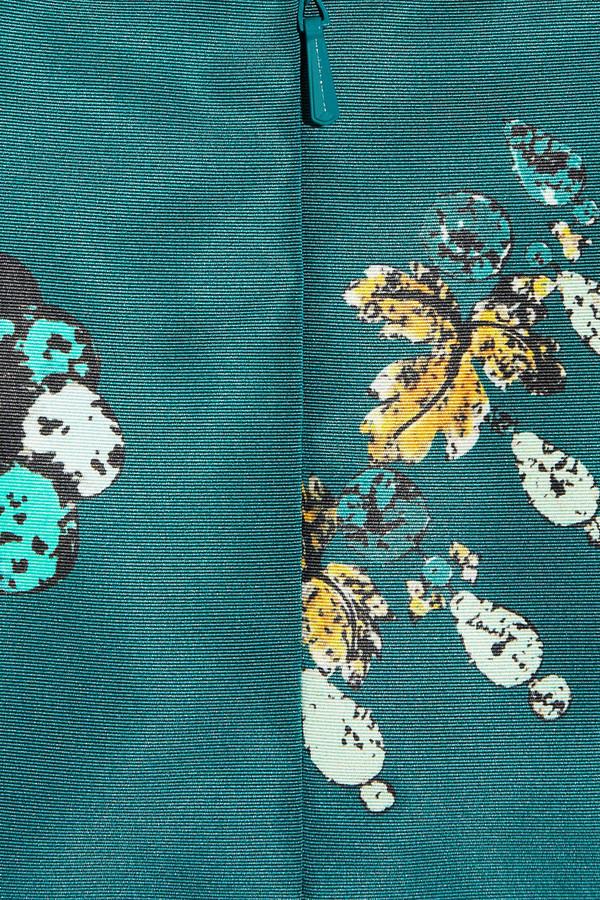 Oscar de la Renta Printed silk-faille mini skirt
