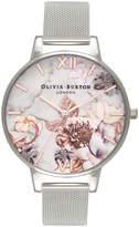 Olivia Burton OB16CS10 Marble Florals Silver Watch