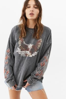 Urban Outfitters Oakland Eagle Long-Sleeve Skate T-Shirt - Grey S at