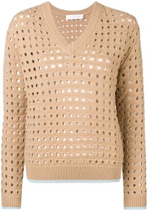 Victoria Beckham cut-out V-neck jumper