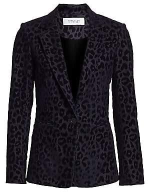 Derek Lam 10 Crosby Women's Velvet Leopard-Print Blazer