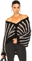 AG Adriano Goldschmied Jocelyn Cardigan Top in Black,Stripes.