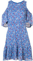 Tanya Taylor cold shoulder floral dress - women - Silk - 8