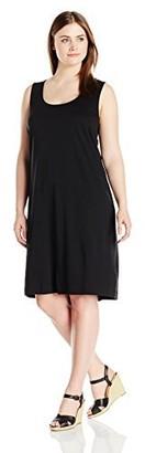 Joan Vass Women's Plus Size Tank Dress 100 Percent Cotton
