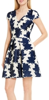 Vince Camuto Floral-embroidered Fit & Flare Dress