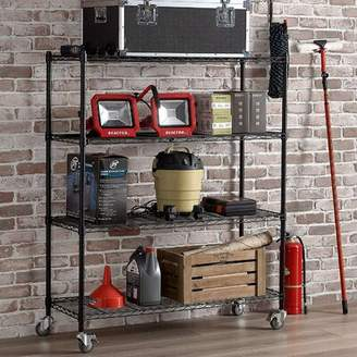 WFX Utility Shelf Supreme 4 Shelf Rack With Caster Wheels WFX Utility