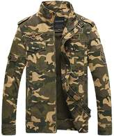 JEWOSOR Mens Classic Camouflage Military Bomber Jackets Air Force Feild Coats Tops