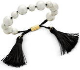 Kate Spade Gold-Tone Beaded Tassel Slider Bracelet