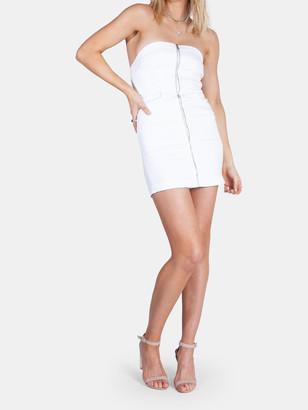 Neon Blonde Vixen Panel Mini Dress