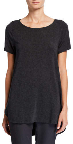 Eileen Fisher Petite Short-Sleeve High-Low Lyocell Top
