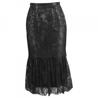 Gianni Versace Black Leather Skirt for Women Vintage