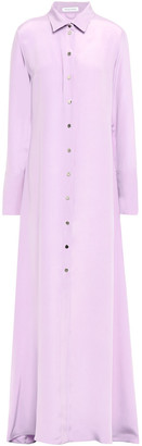Olivia von Halle Hero Washed-silk Nightdress