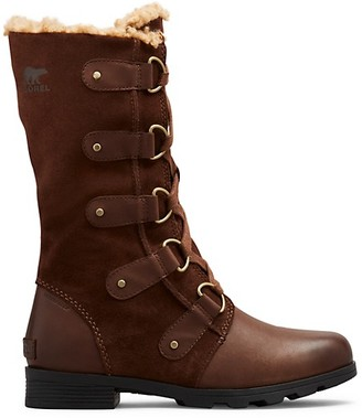 Sorel Emelie Faux Fur-Lined Suede Leather Tall Boots