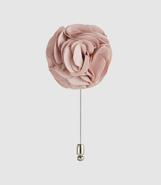 Reiss Piani - Flower Dress Pin in Soft Pink