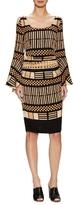 Tracy Reese Silk Printed Flounce Knee Length Dress