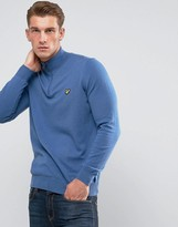 Lyle & Scott 1/4 Zip Merino Jumper Blue