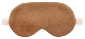 Allude Two Tone Cashmere And Silk Eye Mask - Womens - Brown Multi