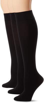 Hue Women's 3-Pack Soft Opaque Knee High Socks