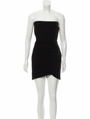 Alex Perry Strapless Mini Dress w/ Tags Black