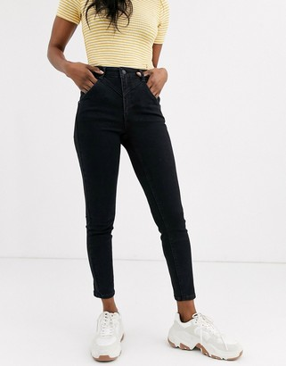 Free People Riley seamed skinny jeans