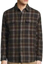 ST. JOHN'S BAY St. John's Bay Long-Sleeve Quilted Flannel ShirtJacket