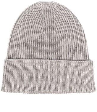Y-3 Chunky Rib-Knit Beanie Hat