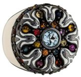 MCL by Matthew Campbell Laurenza Multicolor Sapphire & Blue Topaz Cocktail Ring
