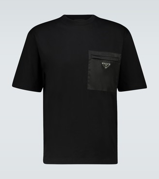Prada Short-sleeved paneled T-shirt