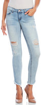 Dollhouse Alexa Asymmetrical Frayed Jeans