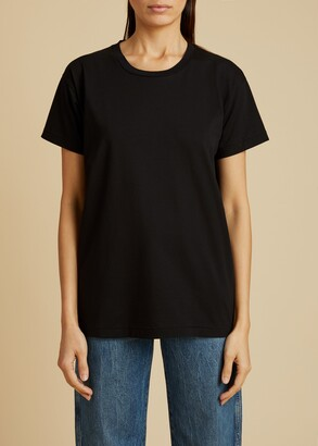 KHAITE The Brady T-Shirt in Black