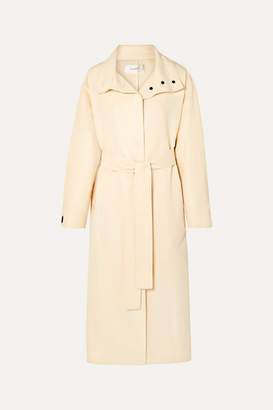 The Row Panae Silk And Cotton-blend Trench Coat - Beige