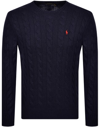 Ralph Lauren Driver Crew Neck Knit Jumper Navy